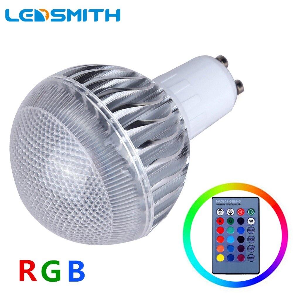 5W RGB LED Lamp E27 GU10 E14 MR16 LED Bulb with 24key Remote Controler Dimmer Energy Saving Multi Color Changeable Spotlight milight 5w gu10 dual color temperature led bulb spotlight without remote