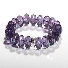 Thomas Style Violet Biseau Améthyste Cristal Perles Bracelet avec un Support De Charme, TS Charme Club Européen Glamour Bijoux pour Femmes
