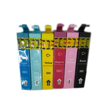 1set For epson T0801 - T0806 ink cartridge For Epson stylus photo P50 PX630 PX650 PX660 PX700W PX701W PX720WD PX730WD PX800FW картридж epson c13t08034011 c13t08034021 для epson stylus photo p50 px660 px720wd пурпурный