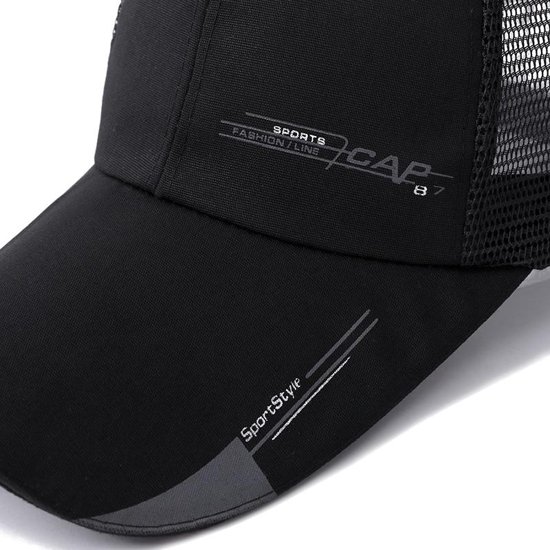 e9648f22946 High Quality Long Brim Shade Snapback Sports Cap Men Women Hat For Fish  Outdoor Mesh Baseball Cap Summer Dad Hat Bone Gorras-in Baseball Caps from  Apparel ...