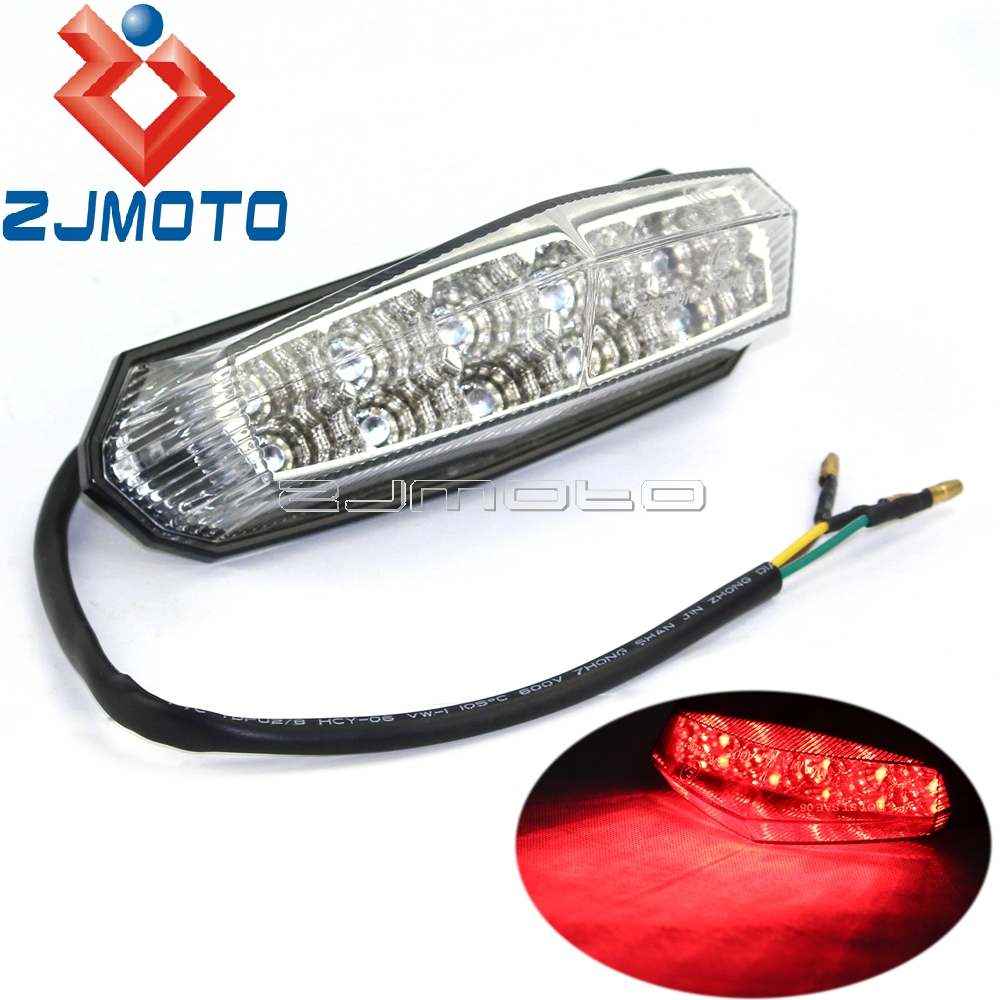 Universal LED Rear Brake Lamp Tail Light For Suzuki GSX 1300 B-King Beta Derbi Megelli Rieju Motorcycle Custom Street Bike XS