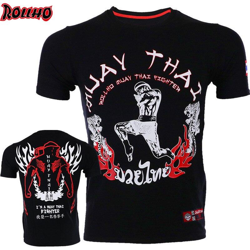 Men Challenger Boxing Short Jerseys Sleeved Kick MMA Kicking Muay Thai Breathable Kick Karate Sports Short T Shirt