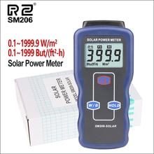 RZ Солнечный Мощность метров светильник метр мини солнечная батарея Lipo Зарядное устройство доска солнечного излучения тестер 0,1-1999,9 Solar Lux Мощность метр SM206