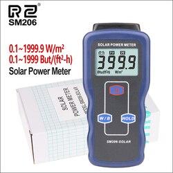 Medidor de energía Solar RZ, medidor de luz, Mini placa del cargador Solar Lipo, probador de radiación Solar 0,1-1999,9, medidor de energía Solar Lux SM206