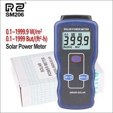 Medidor de energía Solar RZ, medidor de luz, Mini placa del cargador Solar Lipo, medidor de radiación Solar 0,1 1999,9, medidor de energía Solar Lux SM206