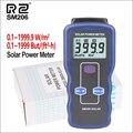 RZ Misuratori di Potenza Misuratore di Luce Solare Mini Solare Caricabatterie Lipo Bordo di Radiazione Solare Tester 0.1-1999.9 Lux di Alimentazione Solare meter SM206