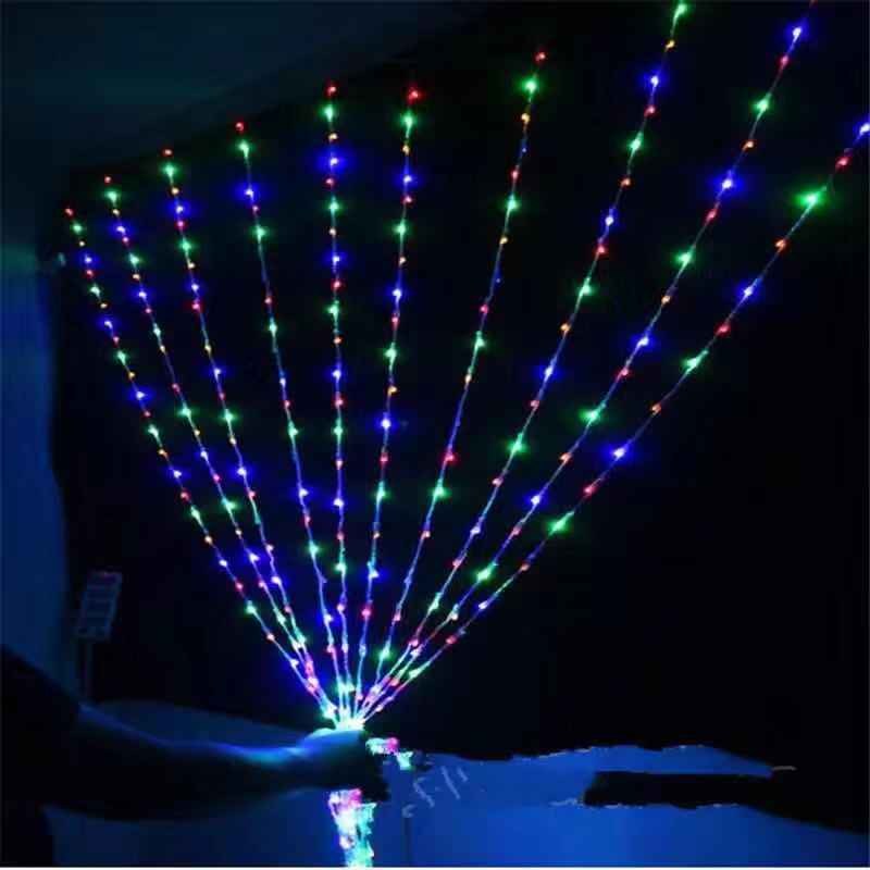 6X3M 640 LED Waterfall Curtain Icicle String Light Meteor Shower Rain Effect String Light Holiday Christmas Wedding Party Lights christmas snowscape print polyester waterproof shower curtain
