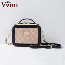 Vvmi bolsos handbags women bags split leather box flap bag messenger bags crossbody  bag