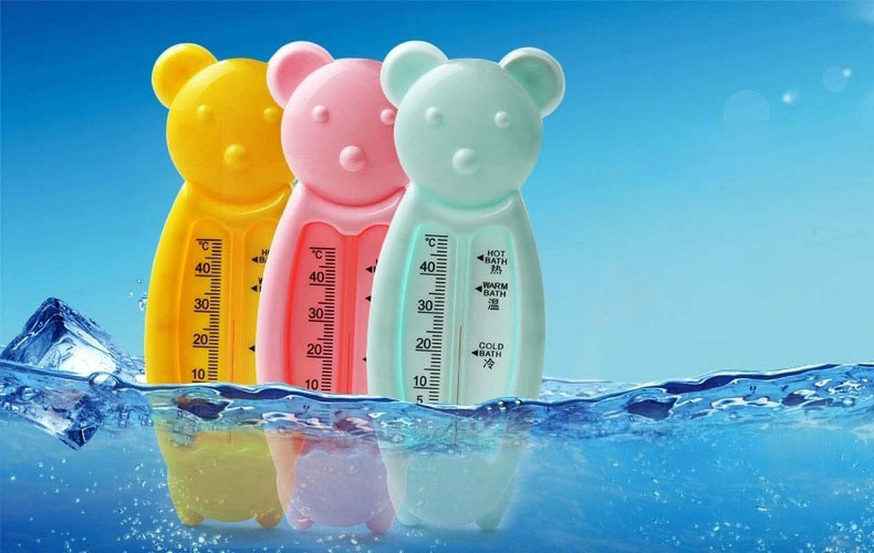1 Pcs Baby Water Thermometer Cartoon Plastic Bear Toy Educational Bath Water Temperature Shower Products 3 Color