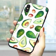 Lovely fruit avocado Soft TPU Case for iPhone 5 Print Phone Cover for iPhone 5S SE 6 6S Plus 7 8 X Xs Max XR Skin