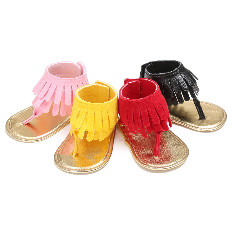 2018 Summer New Baby Moccasins Cute Fringe 4 Color Baby Shoes Summer Lippers for Infant Girls