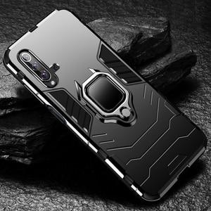 Image 1 - 高級防具耐衝撃ケース Huawei 社 honor 20 電話ケース Huawei 社 honor 20 プロシリコーンホルダーケース honor 20