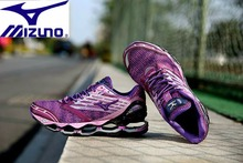 Mizuno Wave PROPHECY 5 Professional Women Shoes Running Shoes Sport Sneakers Air Cushioning Weightlifting Shoes purple Size36-40