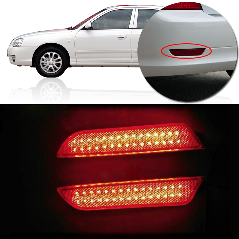 Hyundai Elantra Warning Lights >> Us 30 95 14 Off Capqx 1pair Rear Led Reflector Light For Hyundai Elantra 2007 2010 Bumper Brake Signal Light Warning Light Rear Fog Lamp In Car