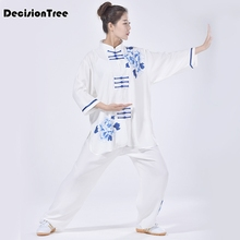 2019 summer 100% cotton chinese tang kung fu suit martial arts wushu tai  uniform shaolin wing chun clothes Chinese kung fu