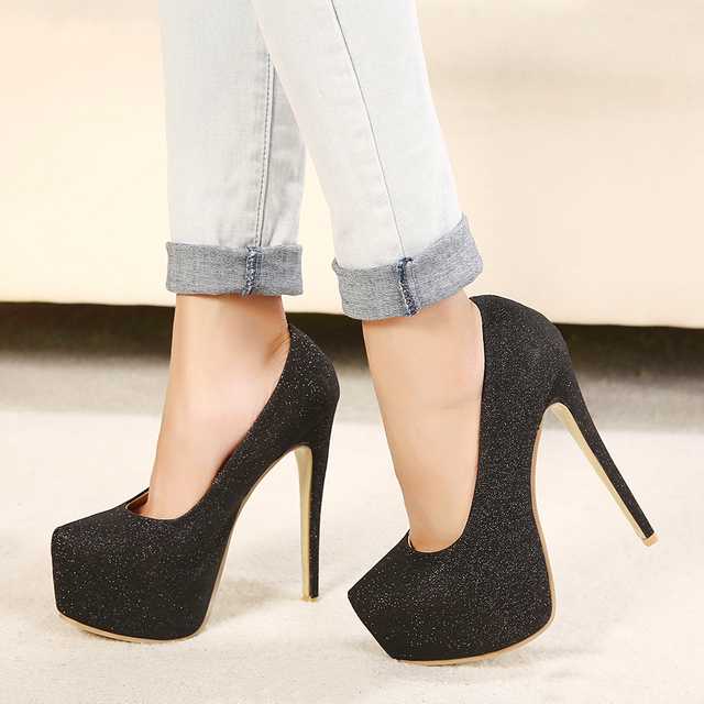 15CM Heel Height Sexy Round Toe Stiletto Heel Platform Party Shoes heels US size 5-11.5 No.A15-3 cheap sneakernews FlkDC8