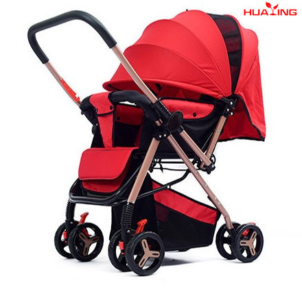 Lightweight four-wheeled stroller high landscape foldable sitting ...