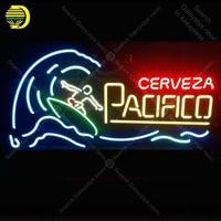 NEON BURCU Pacifico Cerveza Sörf NEON Lamba CAM Tüp Dekor Odası Pencere El Sanatları Reklam anuncio luminoso Dropshipping