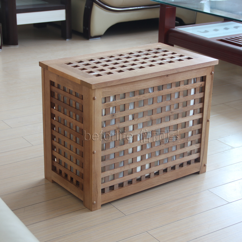 Ikea Style Solid Wood Stool Clean Sorting Box Storage