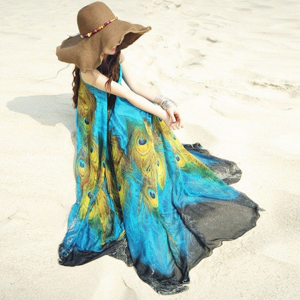 Sexy Vestidos Party Dresses Large Size Dress Maxi Women Dress Summer Boho Chiffon Beach Long Dress