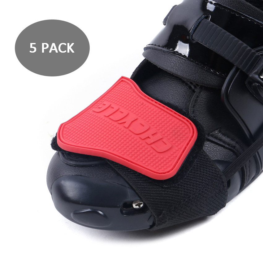 5 PACK Motorcycle Protective shift Pad Motocross Men Boots Shoe Protection Gear for Riding rubber lever Racing Brake Cover