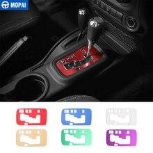 MOPAI алюминий коробка скоростей панель украшения крышка отделка наклейки для Jeep Wrangler JK 2011 до автомобиля интимные аксессуары укладки