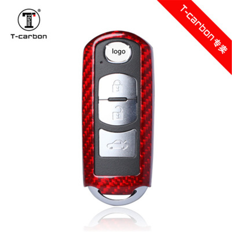 Carbon Fiber Car Remote Key Case Cover For Mazda 2 3 6 Axela Atenza CX-5 CX5 CX-7 CX-9 2015 2016 2017 Smart 2/3 Buttons цены онлайн