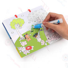 2018 New Magic Water Drawing Book Coloring Book Magic Pen Painting Drawing Board For Kids Toy Birthday Christmas Gift ) toy water color book magic pen painting drawing board for kids toys magic water coloring book birthday boy and girl gift