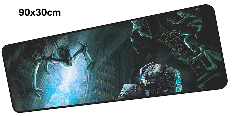 dead space mousepad gamer 900x300X3MM gaming mouse pad large locrkand notebook pc accessories laptop padmouse ergonomic mat