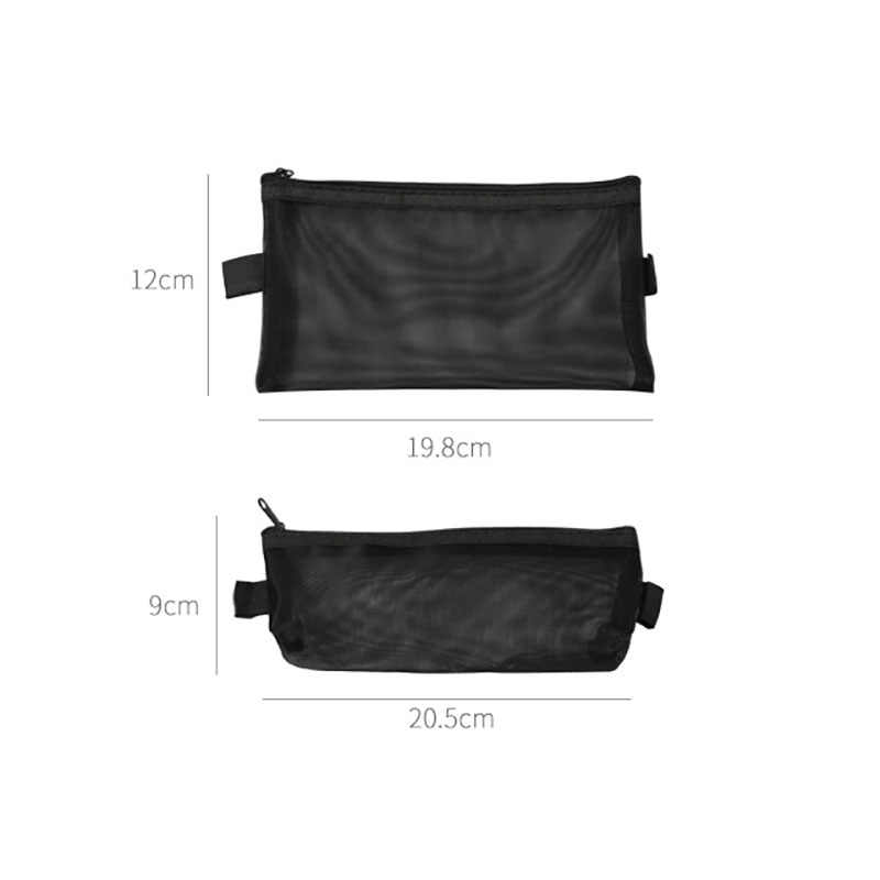 316d284483b660 ... Large Nylon Pencil Case Bags Kawai Big Grid Clear Pencil Box Pen Case  For Kids Gift ...
