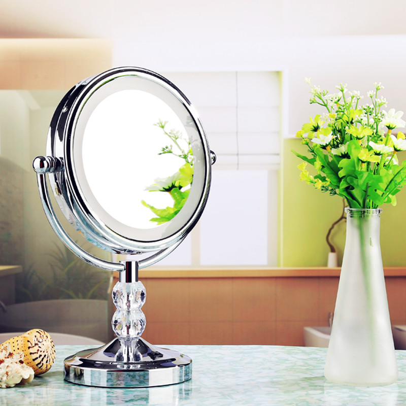 Free Shipping 8Wall Mounted Round 3x / 1x Magnifying Bathroom Mirror LED Makeup Cosmetic Mirror ladys private mirrorFree Shipping 8Wall Mounted Round 3x / 1x Magnifying Bathroom Mirror LED Makeup Cosmetic Mirror ladys private mirror