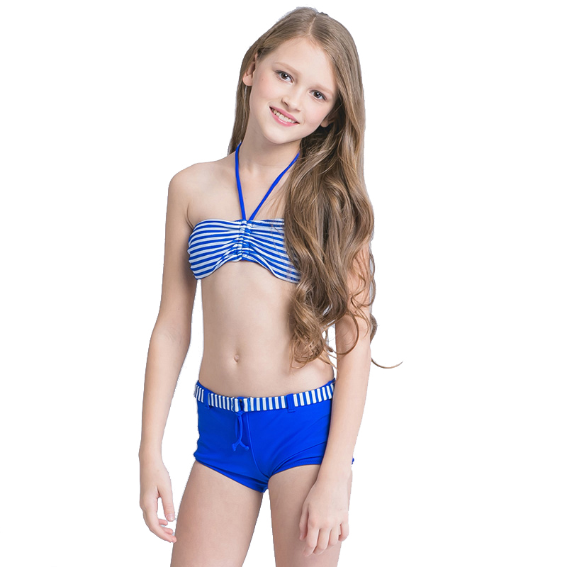 a strisce due pezzi costume da bagno delle ragazze bikini bambini 2017 bambini costumi da bagno