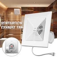 38W 8 inch 220V Low Noise Window Ceiling Wall Mount Ventilation Exhaust Fan Bathroom Kitchen Blower Home System