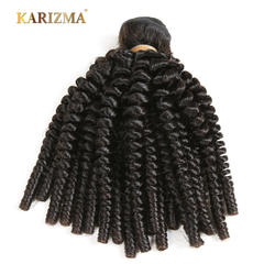 Karizma бразильские кудрявые вьющиеся волосы пучки натуральный цвет волос 1 шт. 100% человеческих волос Ткачество не Реми волосы расширения
