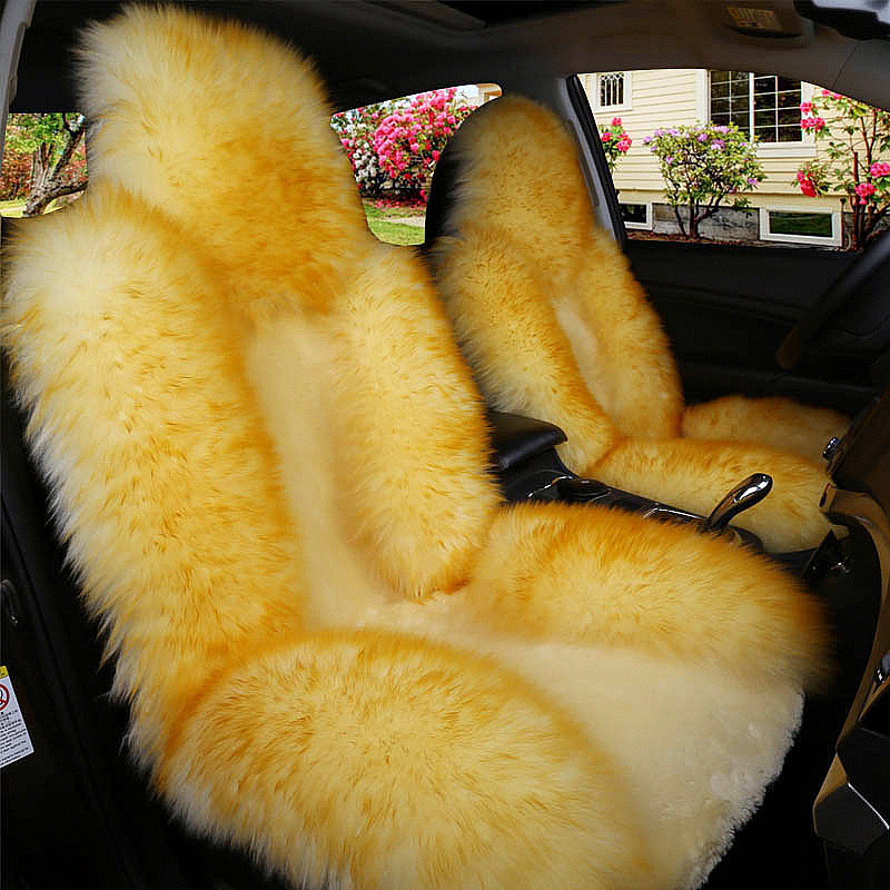 1 Piece Winter Car Seat Cover Soft Long Fur Warm Auto Front Seat Cushion for Men Women Car Interior Styling Accessories single car seat cushion sheepskin car front seat cover winter warm woolen auto seat cover long woolen with short artificial fur