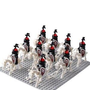 Image 5 - 10 مجموعة/وحدة قلعة فرسان الهيكل العظمي ريبر القرون الوسطى الهيكل العظمي الخيول قوالب بناء 9462 تجميع كتل ألعاب أطفال جديد