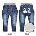 Розничная kk-кролик джинсы новорожденных девочек мальчиков добавить шерсть джинсы толстые теплая зима дети джинсы 2-7Y 1416 #