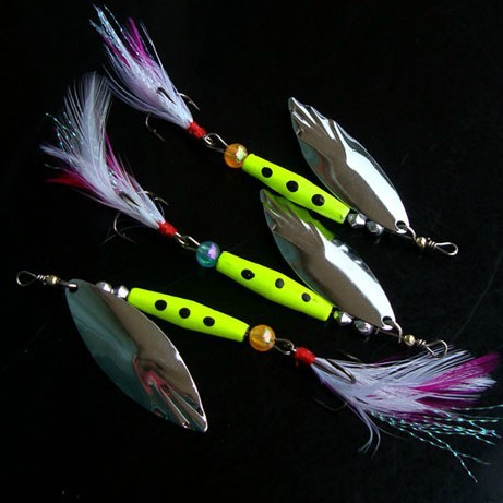 [3PCS] 10g Crystal Flash Bucktail Spinner Lure for Spotted Bass Fishing Spinner Baits