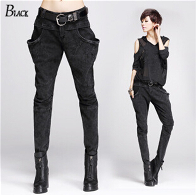 Fantastic Spring Summer Black Harem Pants Women Office Wear Trousers