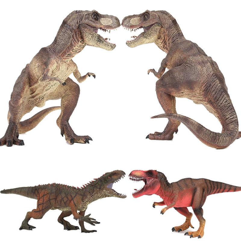 T-REX Mundo Jurássico Brinquedos do Dinossauro Tiranossauro Rex Giganotosaurus Megaraptor Figuras de Ação de Plástico Modelo Animal Caçoa o Presente