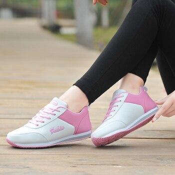 6f333f87 Zapato de Golf para mujer deportes viento cuero impermeable antideslizante  uñas zapatos de mujer red plana