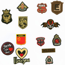 hot deal buy two love peace patchwork patch embroidered patches for clothing iron-on for close shoes bags badges embroidery fashion diy women