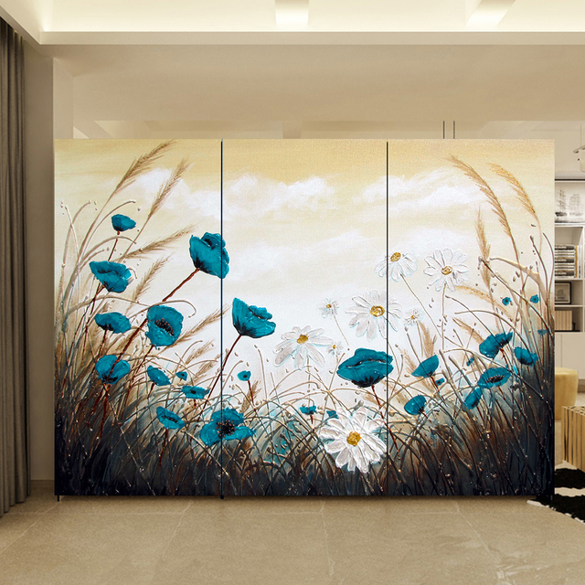 Yazi Customized Size Pvc Wallpaper Mural Bedroom Wardrobe Sliding Closet Door Sticker Window Glass 1mx1m