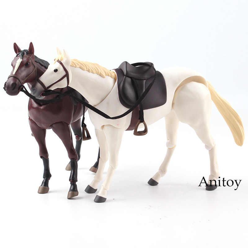 """1//12th SCALA 6/"""" PVC Animale Figma 246b White Horse scena Modello F 6/"""" doll figure"""