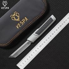 Destripador de VESPA de alta calidad, Hoja: mango M390 (satinado): 7075 aluminio + CF, supervivencia al aire libre EDC hunt herramienta táctica cuchillo de cocina de cena