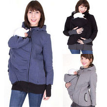 Fashion Baby Carrier Jacket Kangaroo Warm Maternity Women Outerwear Coat for Pregnant Womens