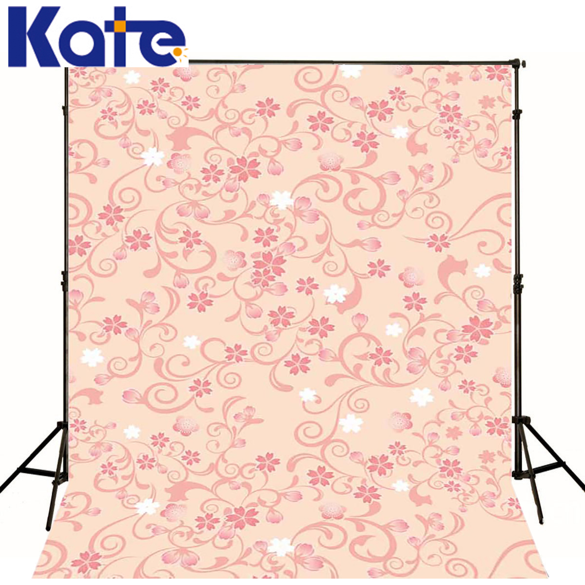 KATE Baby Photo Background Refinement Newborn Photography Backdrops White Pink Flowers Digitally Printed Backdrop сумка kate spade new york wkru2816 kate spade hanna