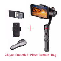 Zhiyun Smooth III 3 Axis Handheld Gimbal Remote Plate Bag For IPhone 7 6 Plus For