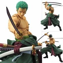 18cm Anime One Piece Roronoa Zoro Figurine One Piece Three Knives Zoro PVC Action Figure Model Doll Toys Gift TFA3117