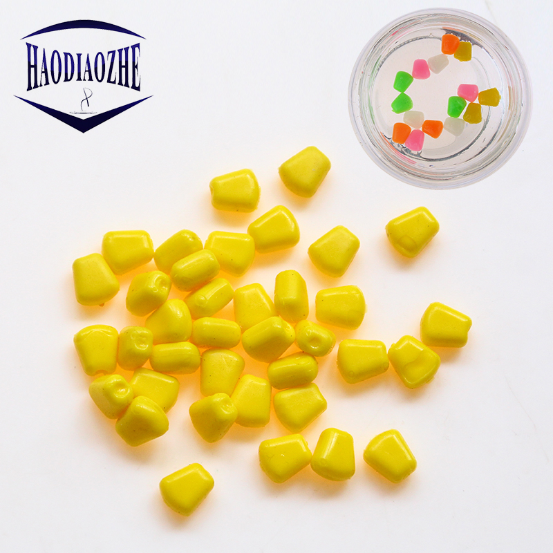 50pcs/lot Colored Up Carp Fishing Boilies Flavoured Grass Bait Floating Corn Soft Pellet lure 0.4g/pcs Lures